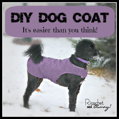 DIY Dog coat, diy dog clothes
