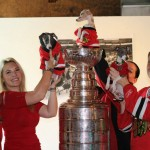 Met the NHL Stanley Cup go Chicago Blackhawks and Jonathan Toes he was named after (2)