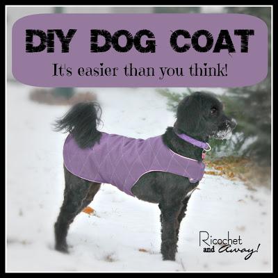 DIY Dog coat, diy dog clothes