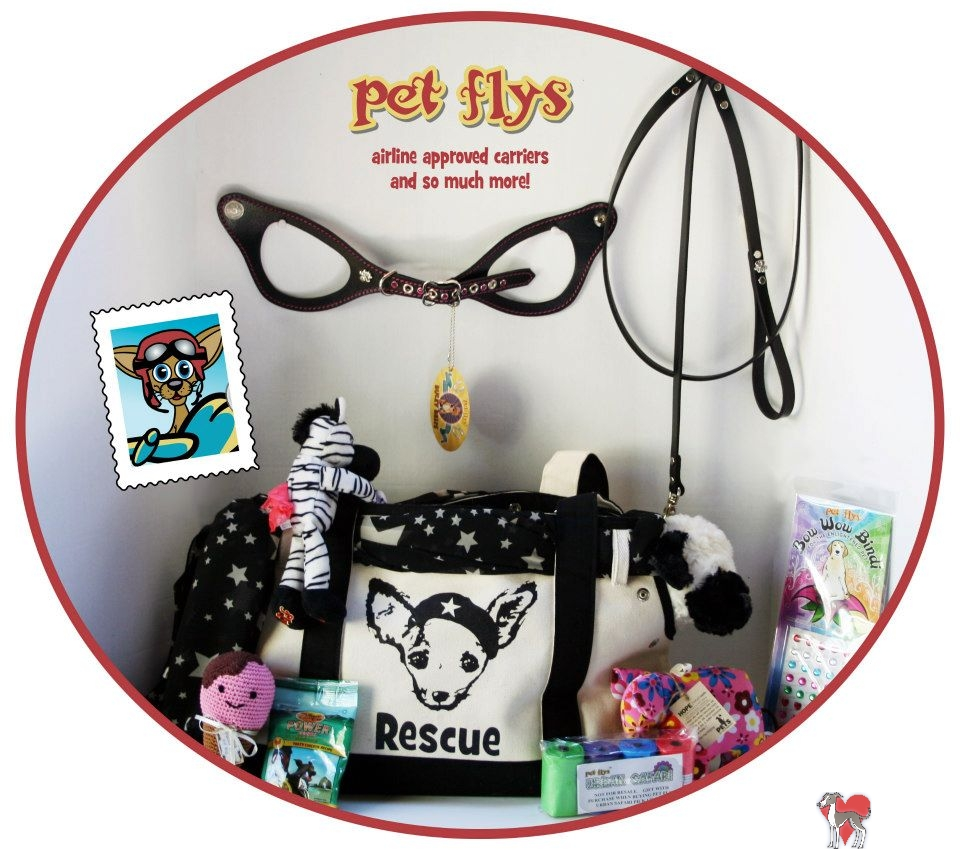 Pet Flys, donation, gift basket, romp, romp rescue, romp italian greyhound, romp auction, for the love of dogs, petflys