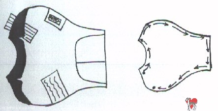 DIY Dog Tuxedo Shirt pattern, pattern, instructions