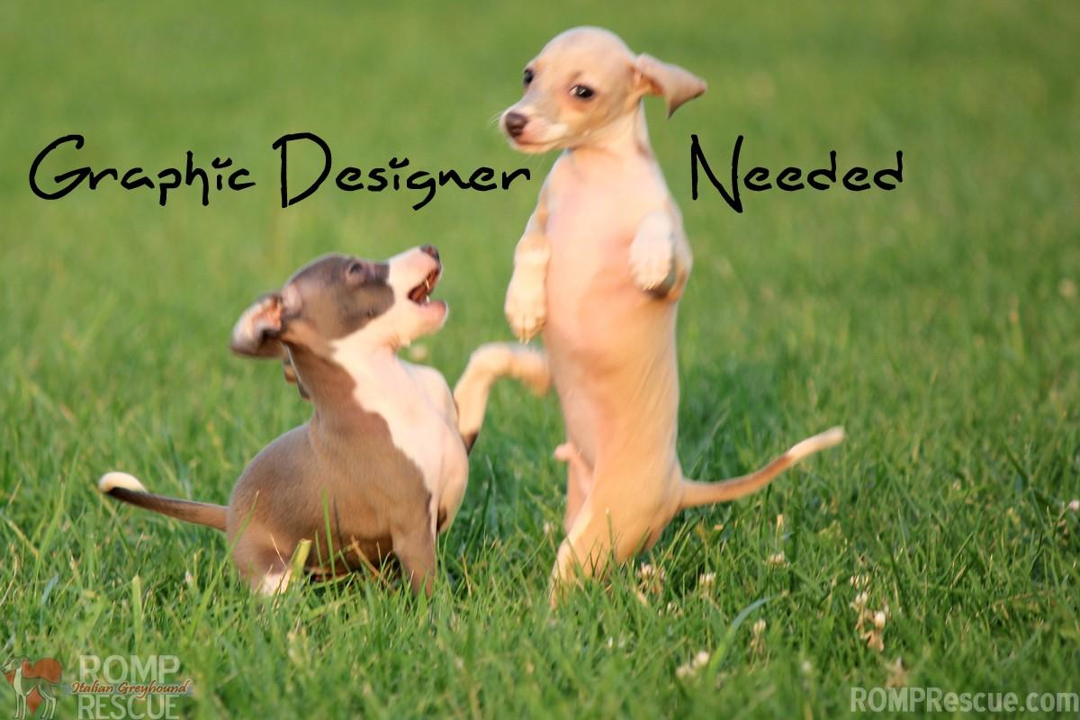 Volunteer Graphic Designer Needed, graphic designer needed, volunteer graphic designer, non profit, rescue, dog, dog rescue, dog shelter
