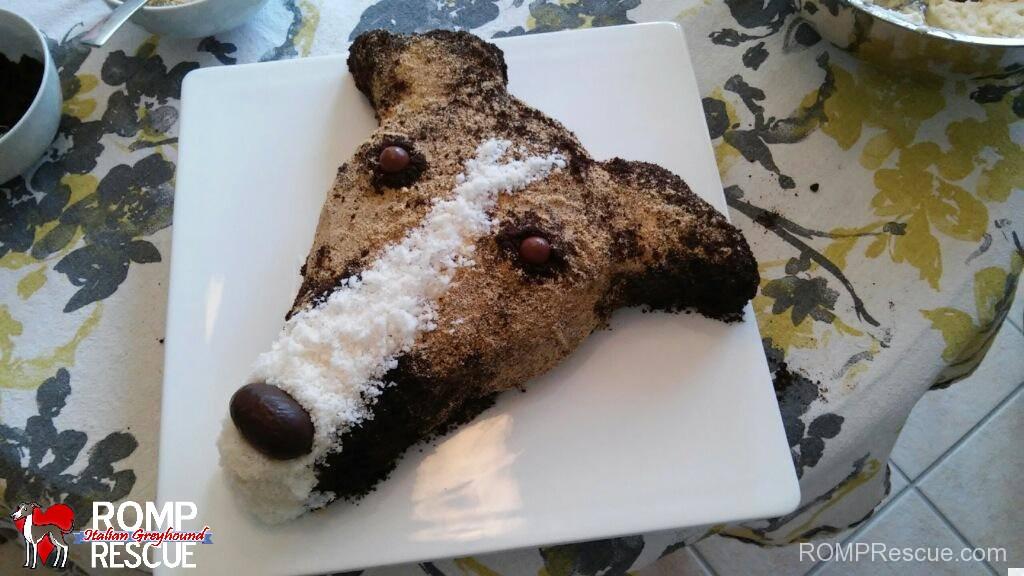 italian greyhound birthday cake, italian greyhound, iggy, ig, greyhound, birthday, cake